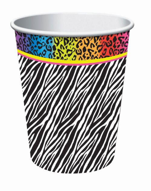 80s Cup 9oz 8pck 80s Disco Pop Retro Party Favour